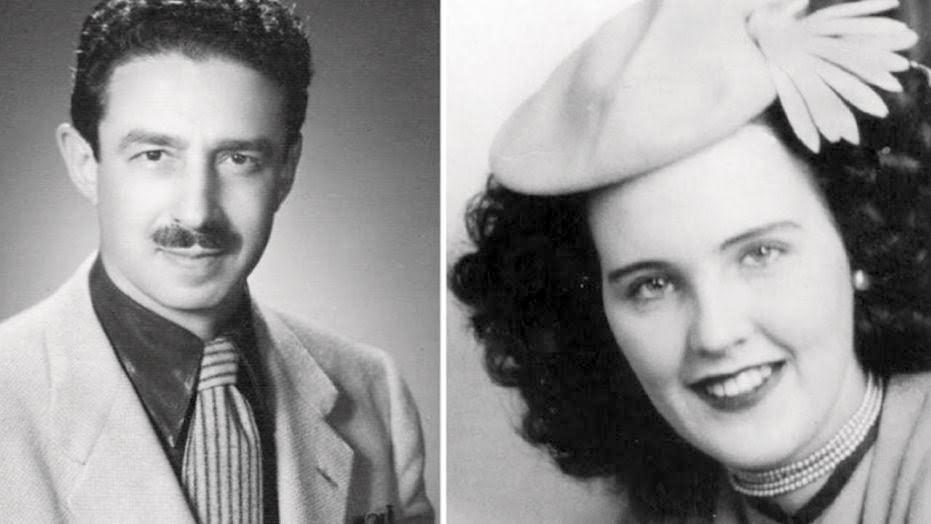 "Photo Courtesy of  foxnews.com    Doctor George Hodel, a prime suspect of ""The Black Dahlia"" case (left) and Elizabeth Short, the Black Dahlia herself (right)."