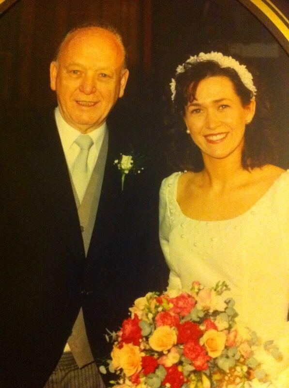 Beautiful Sheila and her Dad on her Wedding Day.