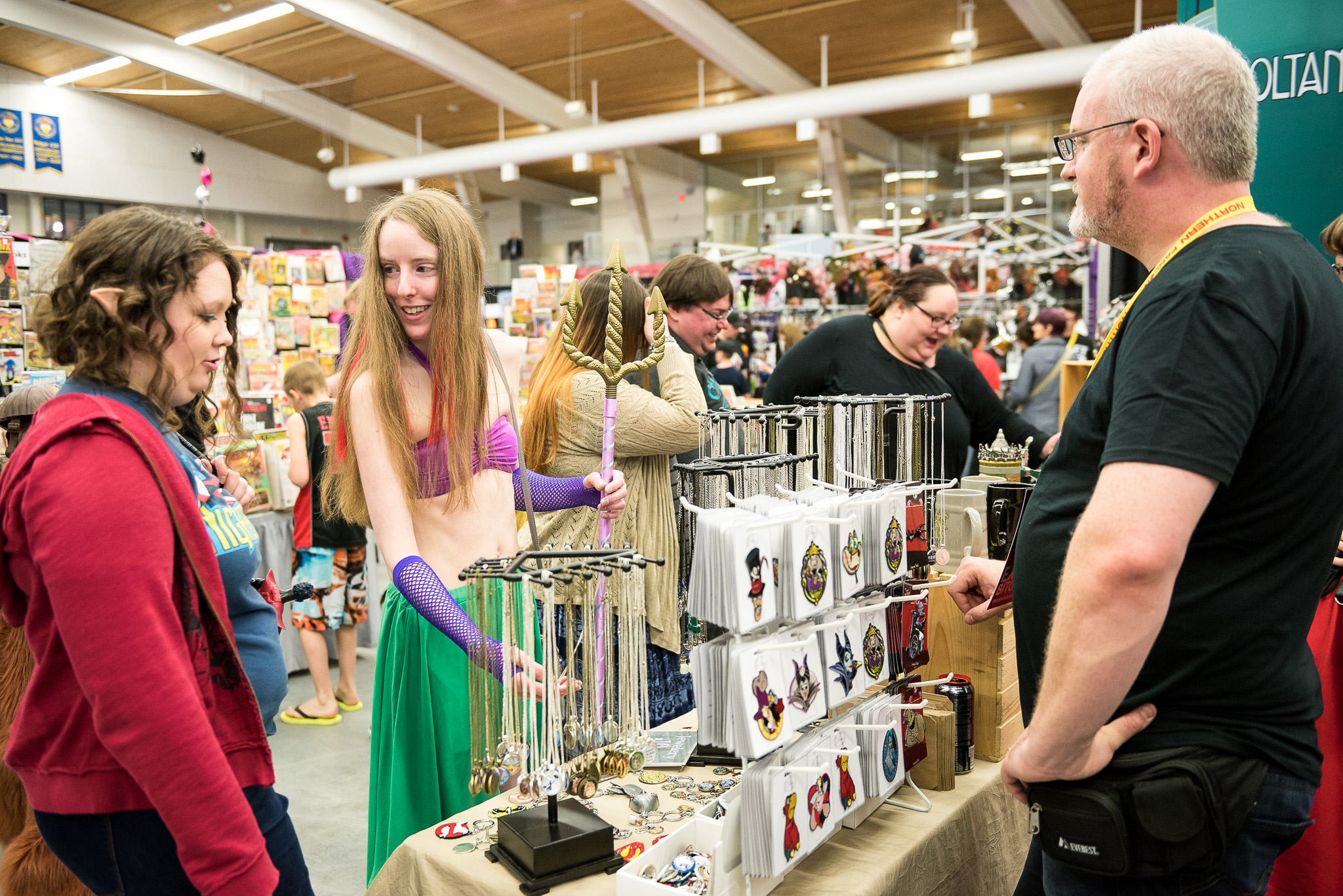 Attendees shop the exciting pop culture items at the Zoltangal booth  photo credit Christos Sagiorgis/Cvlt Stvdio