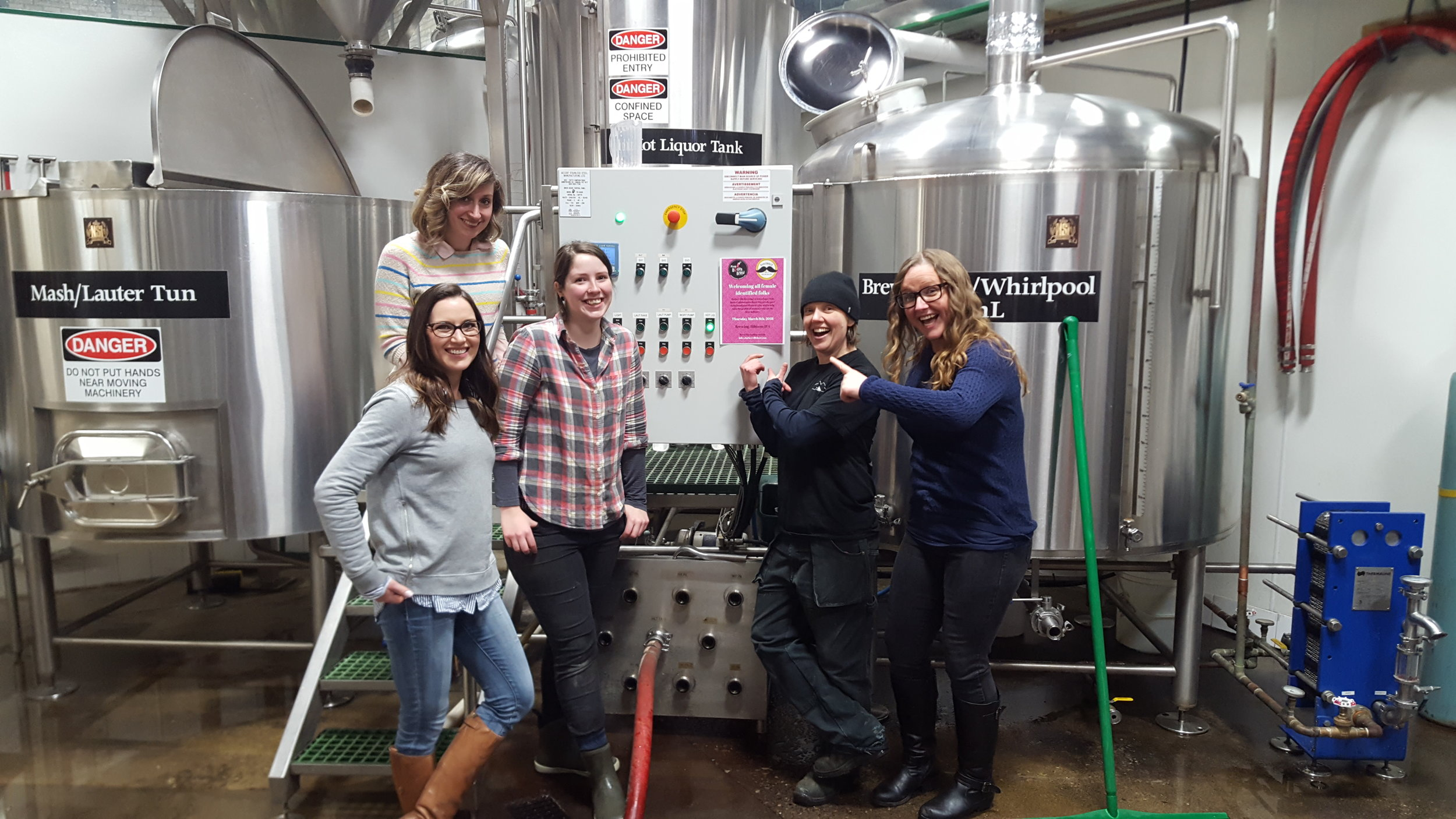 The team of Barkerville Brewing poised for a very special event on International Women's Day