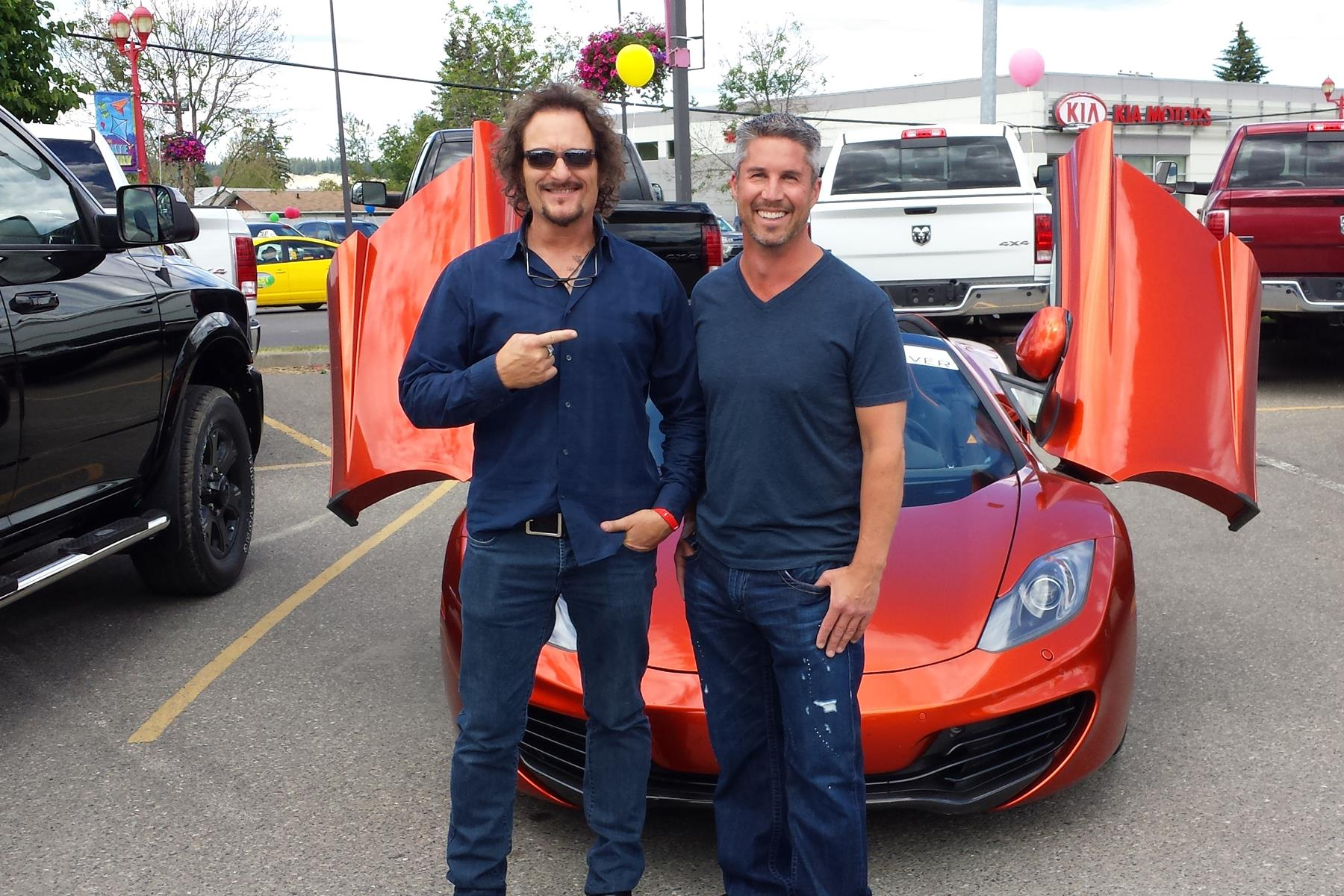 submitted photo: Sons of Anarchy favorite Kim Coates with local philanthropist Brent Marshall