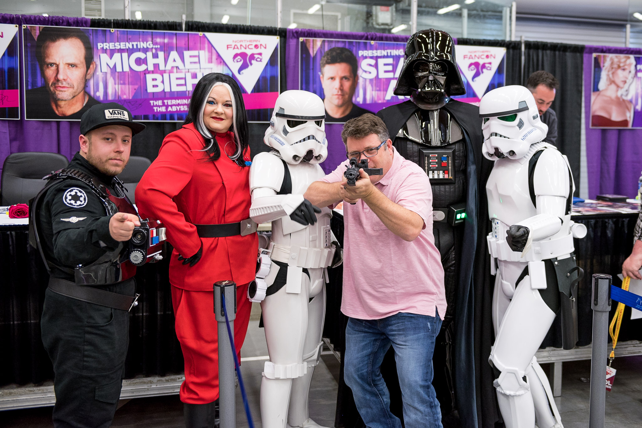 Iconic actor Sean Astin having fun at Northern FanCon photography by Christos Sagiorgis