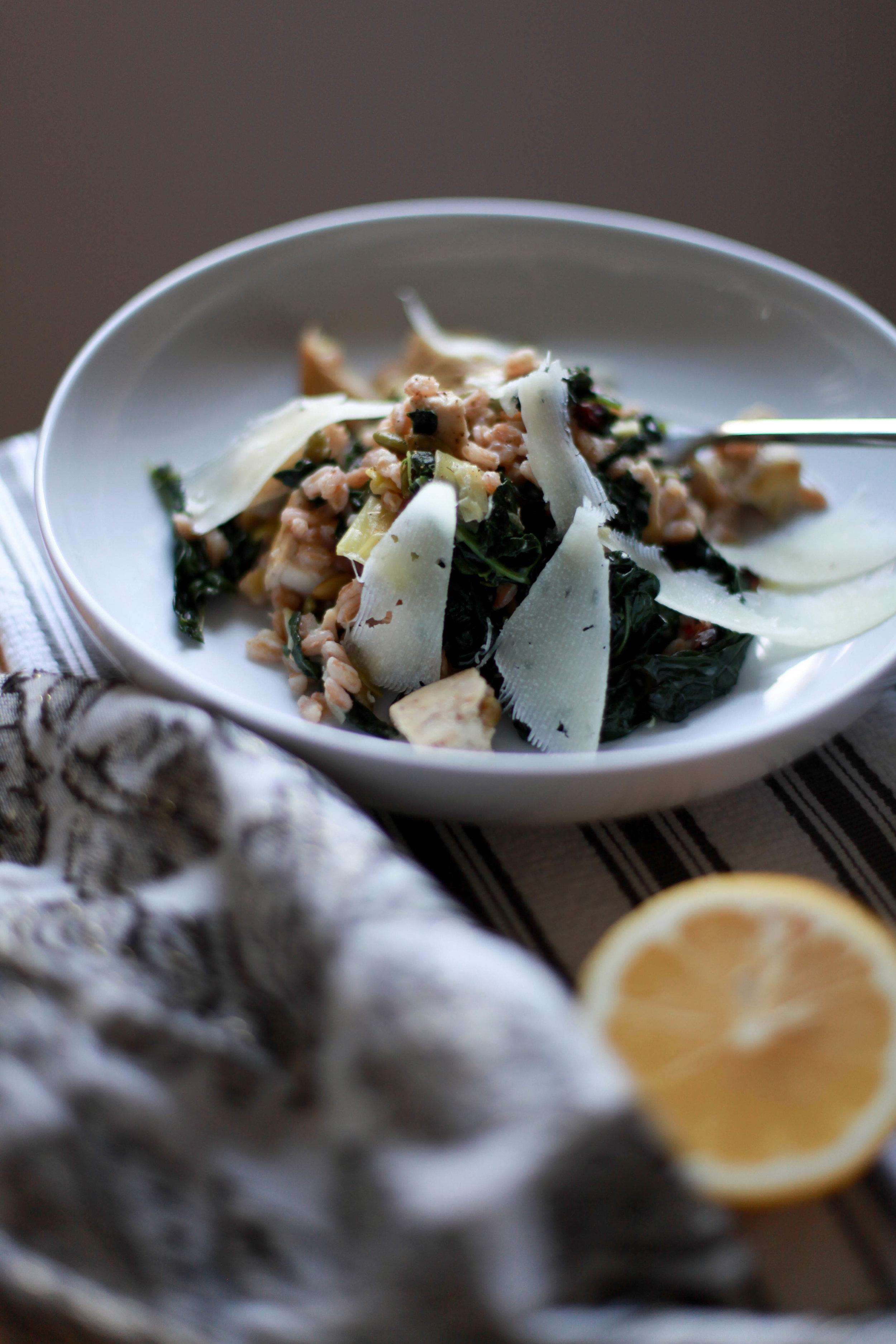 Grain and Kale Salad - serves 6