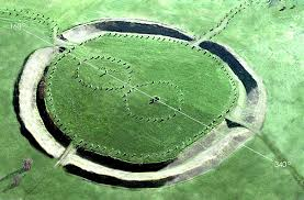 Ariel View of Avebury, reconstructed as how it would look in Ancient times.