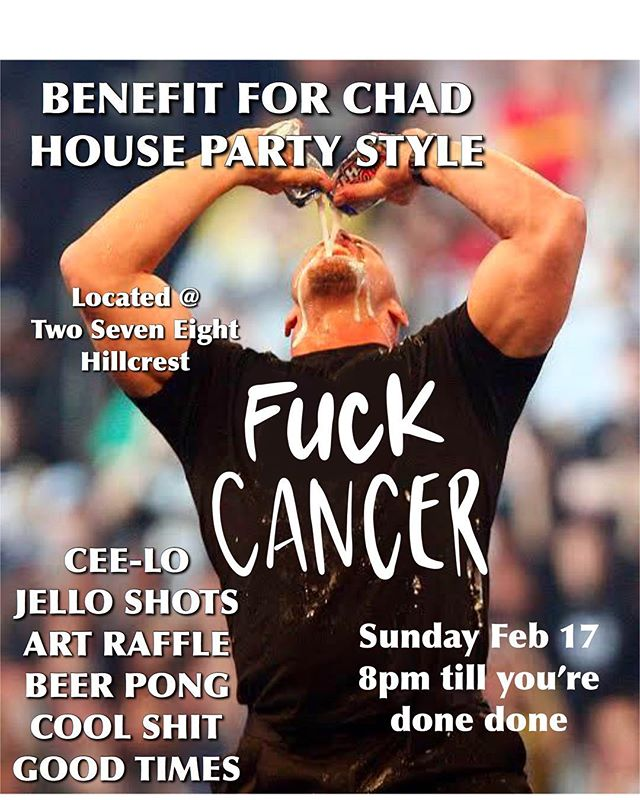 SUNDAY SUNDAY SUNDAY  DRINK TIL U CANT ANYMORE ALL WHILE HELPING OUR FRIEND @handsm_sweets BROTHER KICK CANCER'S ASS ! Art raffle all night, Jell-O shots, beer pong and cee-lo ! Maybe we can borrow shut the box from @cjsboozeandbeer 🤷🏻‍♀️🤷🏻‍♀️🤷🏻‍♀️🤷🏻‍♀️ Let's raise some got damn bucks baby! ✨✨✨✨ #fuckcancer