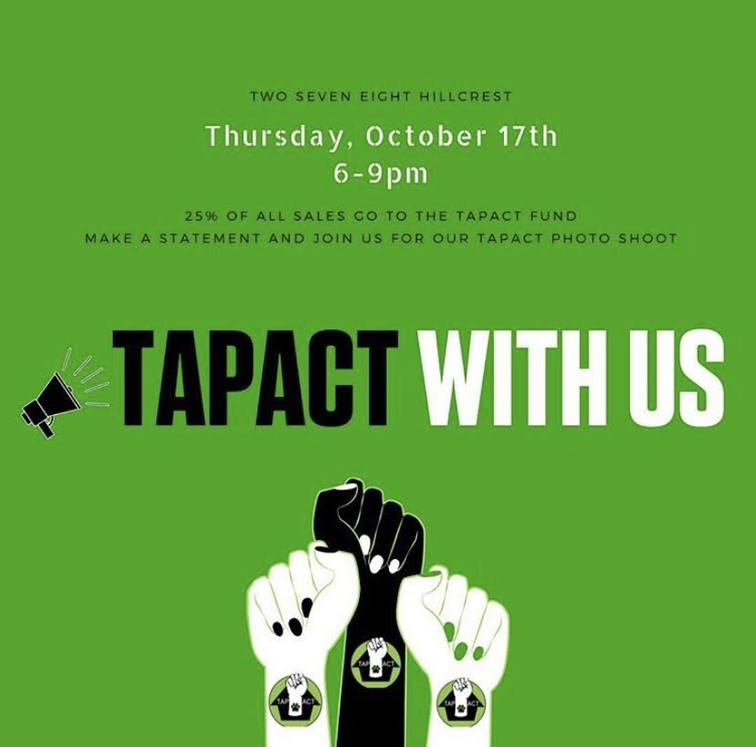 THE ANIMAL PAD - Thursday October 17, 201925% of sales will be donated to TAPACT to help fund their mission to stop animal cruelty