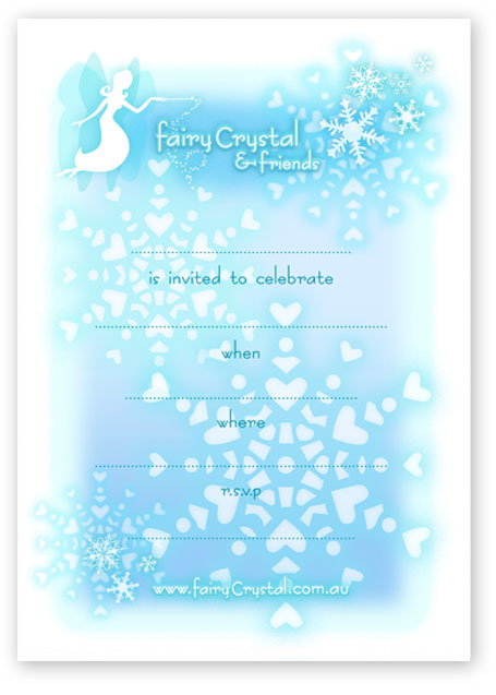 Click to open and print this Frozen themed invitation!