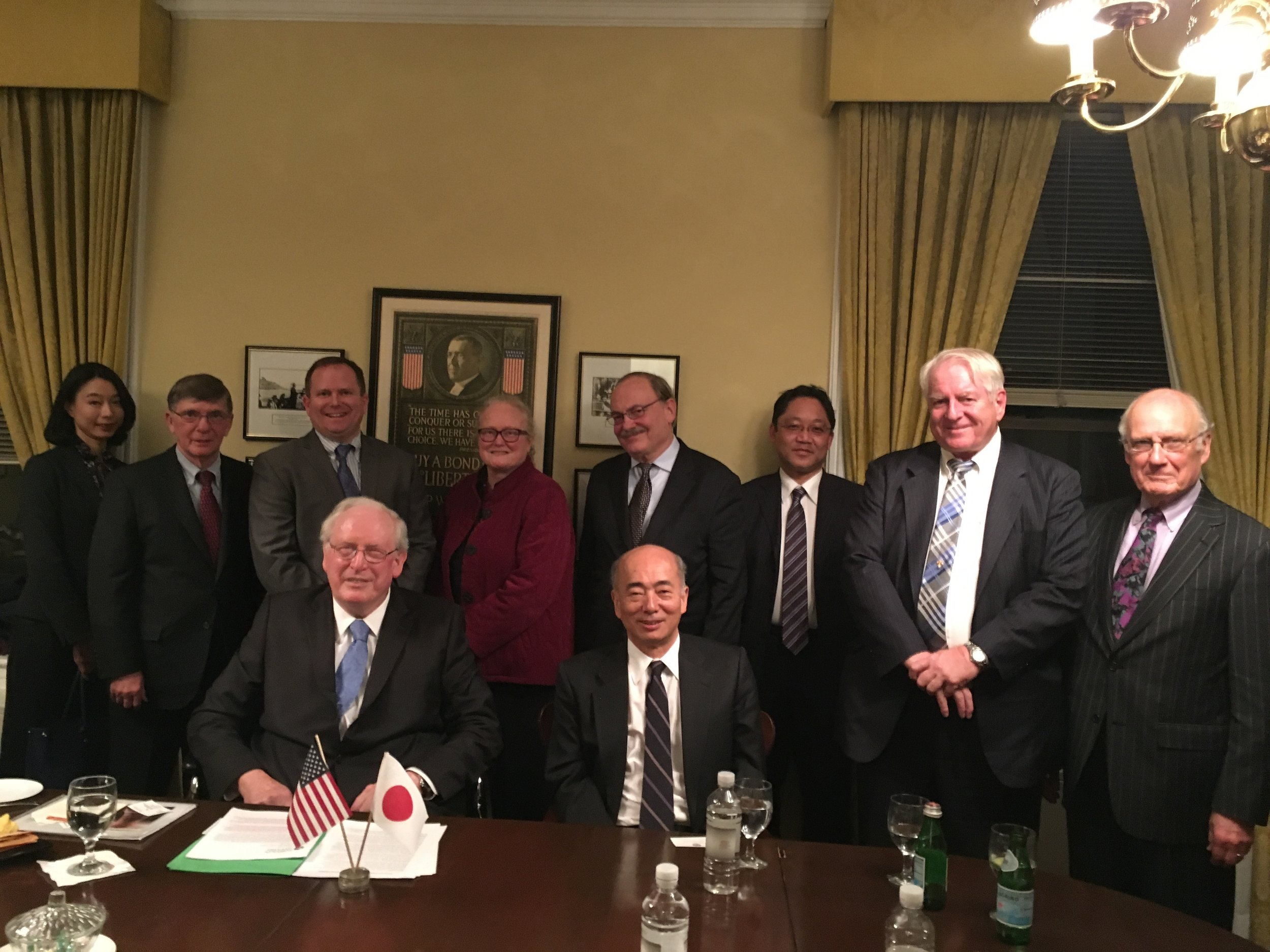 The re-launch of the American Friends of the International House of Japan on December 6, 2017 at the Cosmos Club in Washington, DC with special guests Senator Jay Rockefeller and Ambassador Kenichiro Sasae.