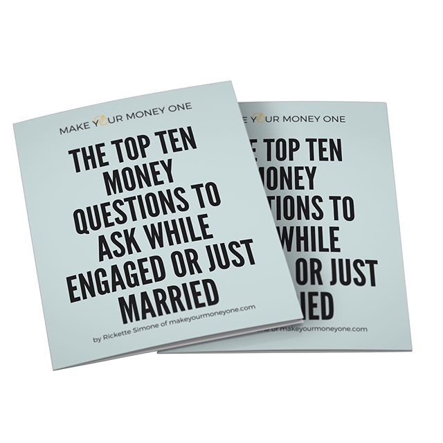 "Weddings are cool but THRIVING MARRIAGES are dope. How you get there is by being intentional, taking heed to the wisdom from the experience of others and marriage tools. ➖One tool being my guide to the ""Top Ten Money Questions To Ask Early On."" Your marriage deserves for you to lay a solid foundation to stand on WHEN disagreements arise. ➖Money fights do not have to ruin your marriage. Let's get you and your spouse on the same page TODAY. ➖Tag a dope couple who is either seriously, engaged or just married so that they can GRAB my free guide from my bio! #makeyourmoneyone"