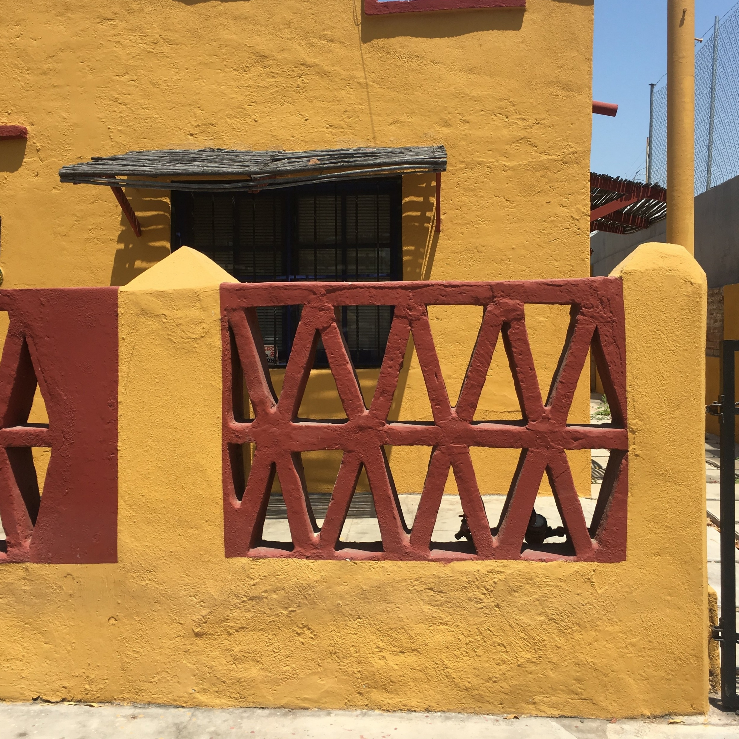 Orange house in La Paz, Mexico | Watson & Walls