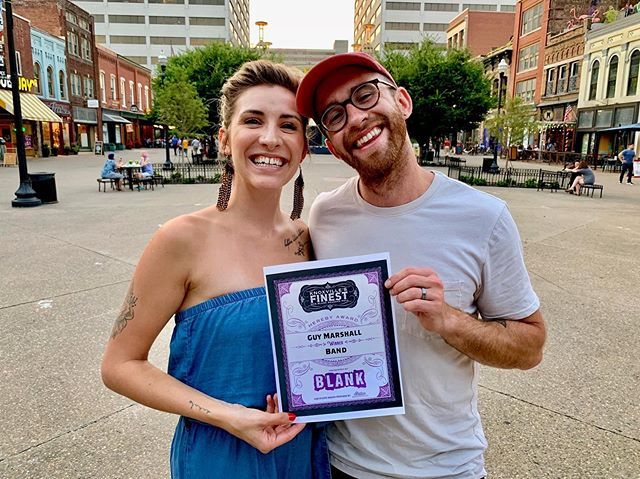Thank you, sweet knoxville. Third year in a row winning the @blanknewspaper knoxville's finest band award, you the best! ❤️ AND Tomorrow our album goes up on Spotify so cheeeck it ooouuut! #knoxmusicscene #spotifynewmusic #keepknoxvillescruffy #knoxvillesfinest #blanknewspaper #marketsquare