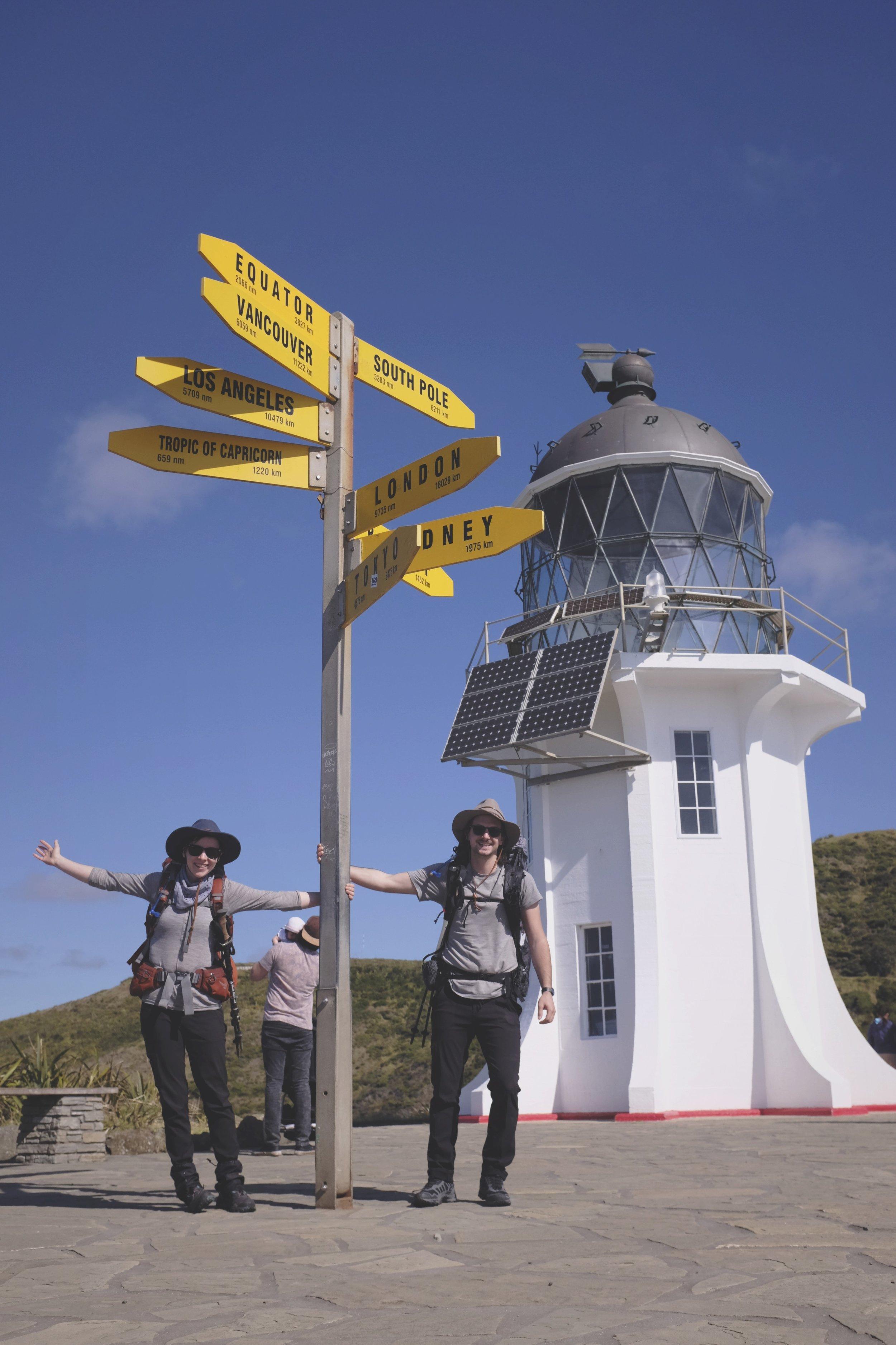 Cape Reinga and the northern terminus!