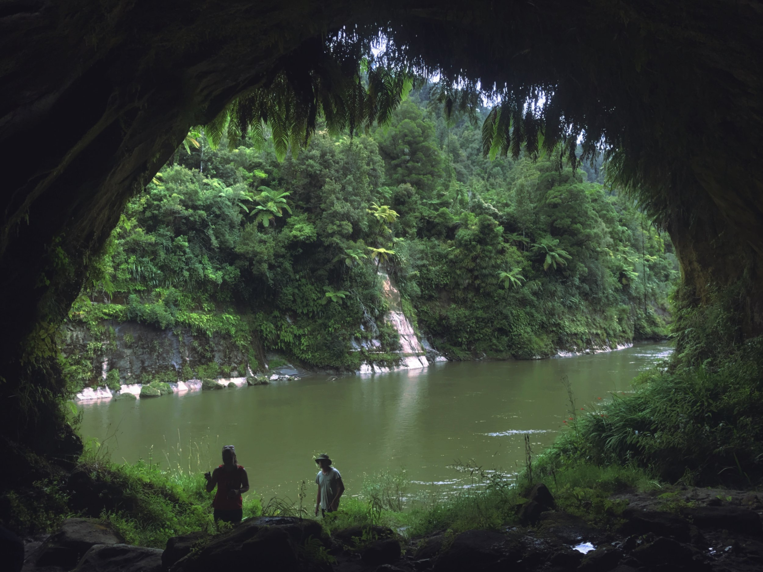 A cave on the Whanganui.