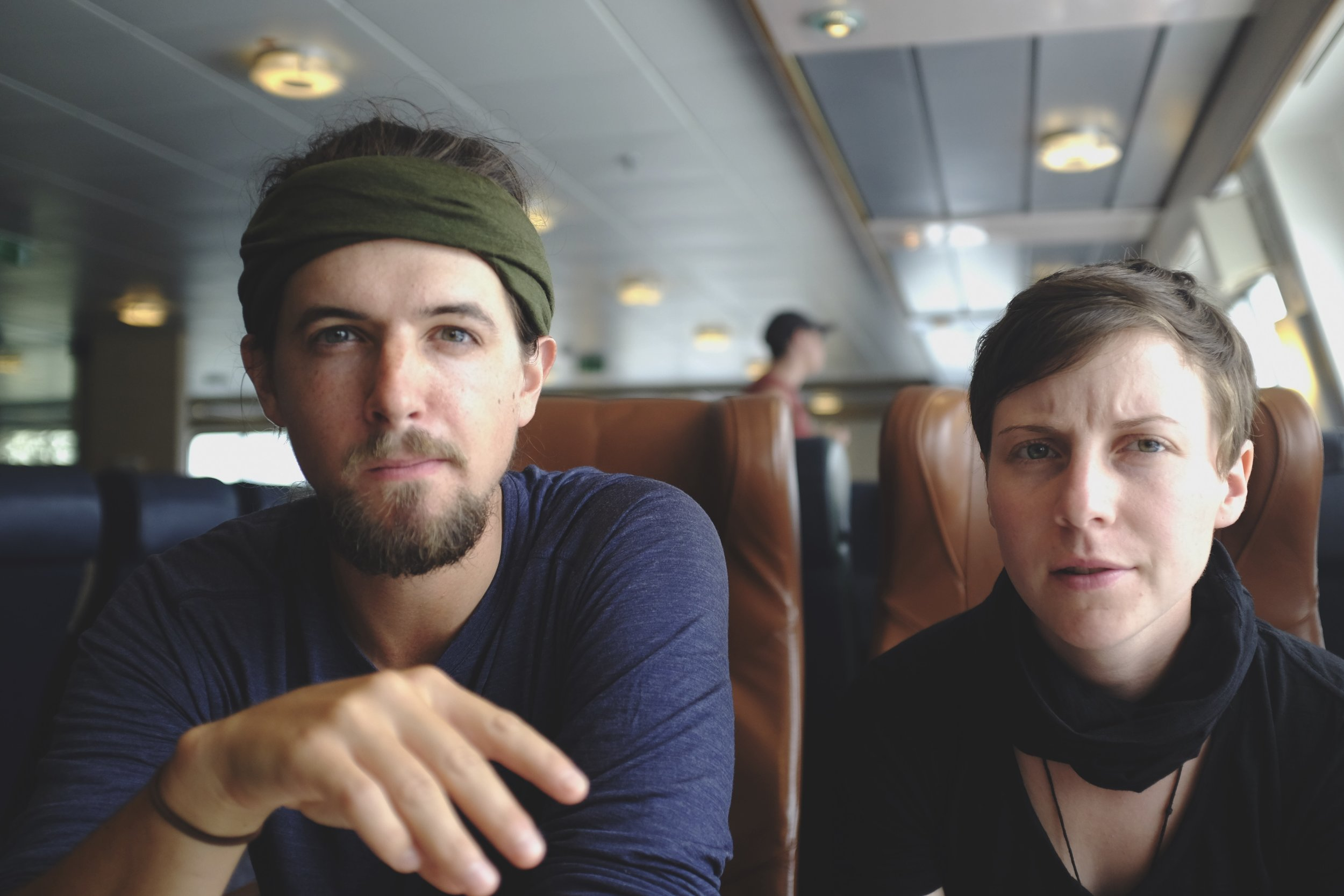 Our essence captured by Leslie on the ferry to Picton.