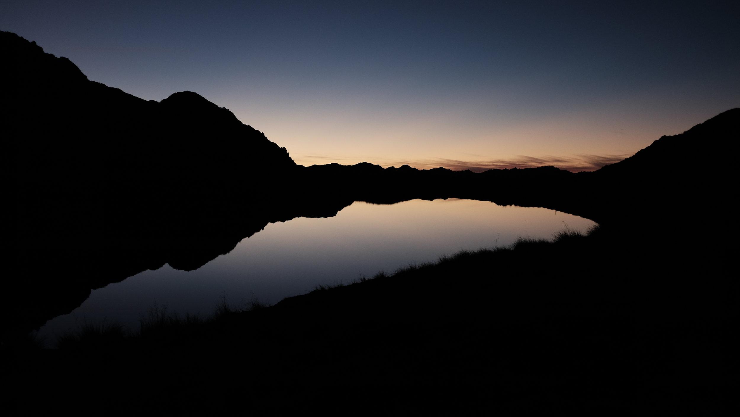 Sunrise over Lake Angelus.