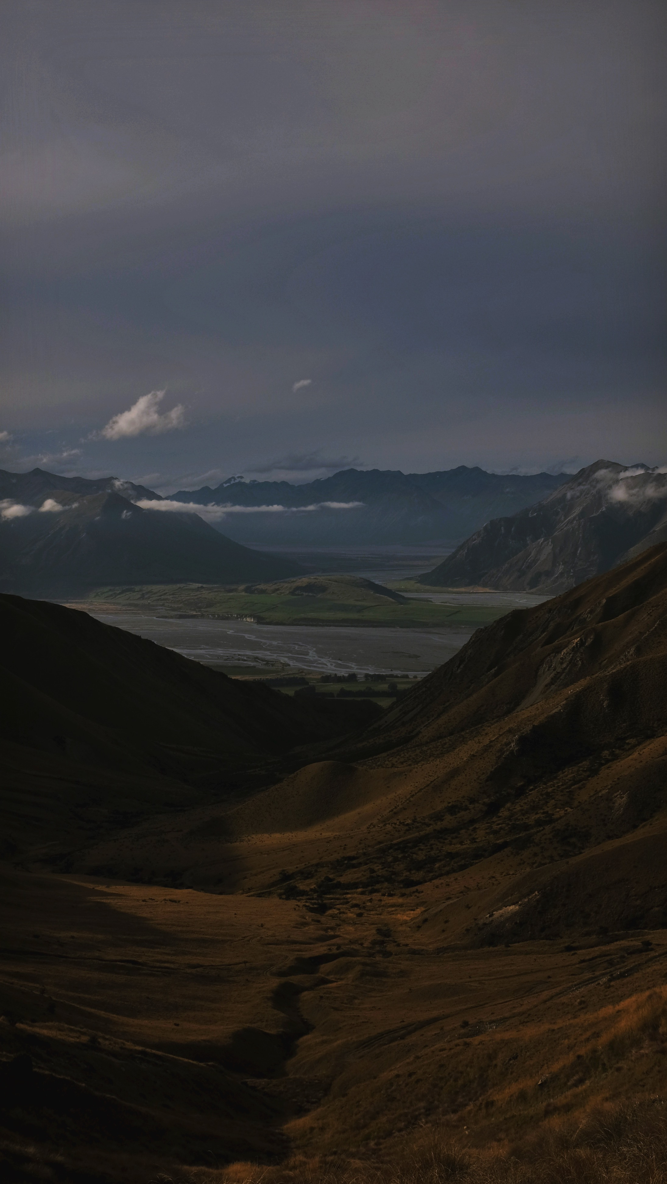 The view back over the Rakaia Gorge.
