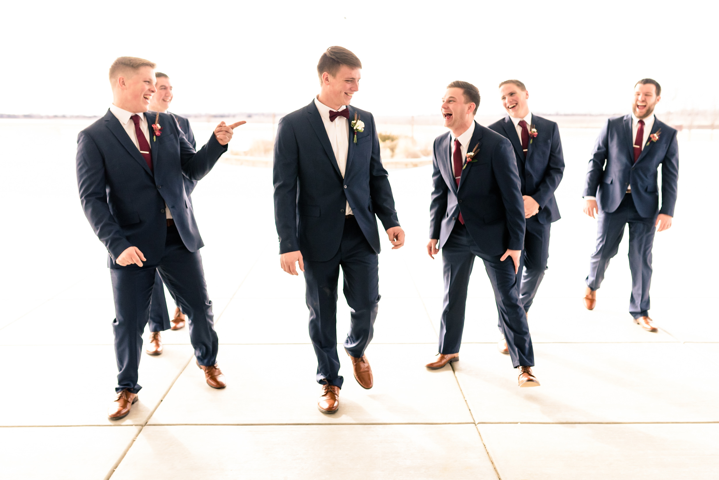 groomsmen, wedding videographer, fun