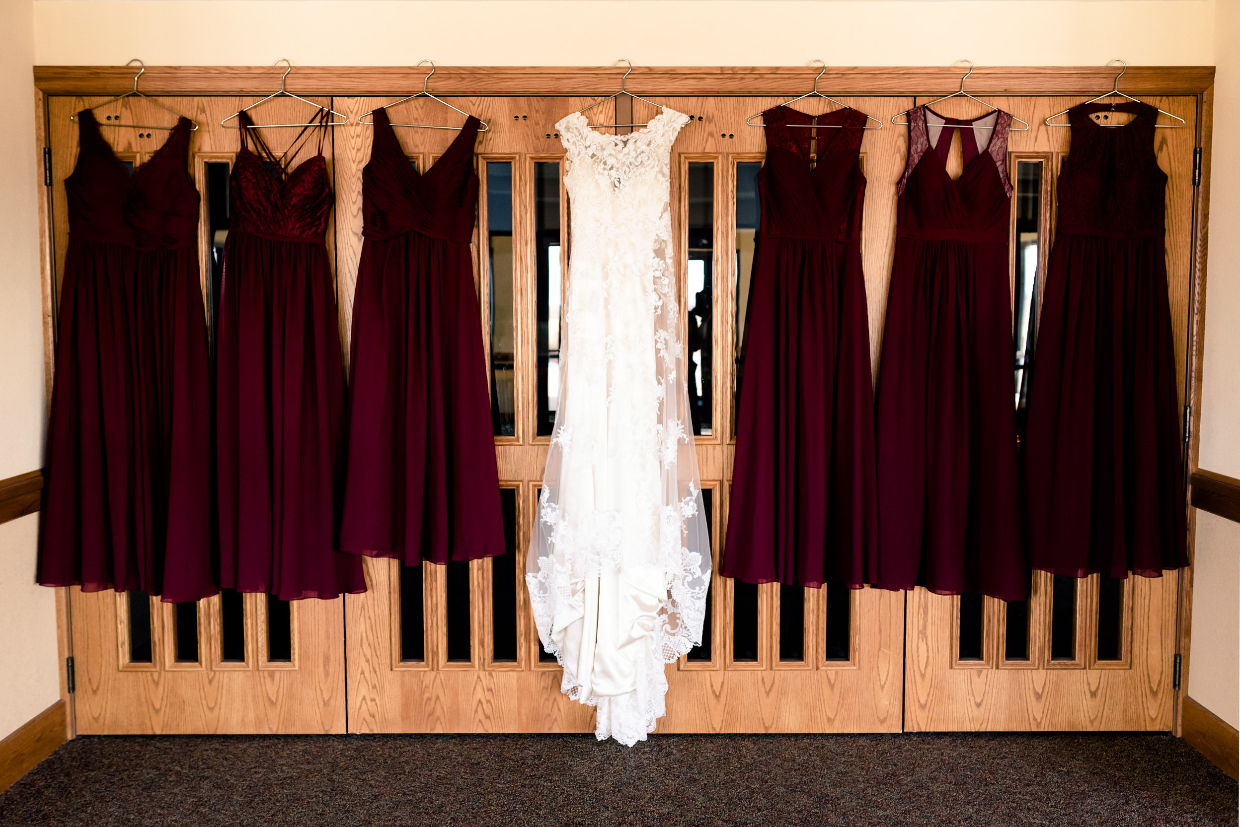 wedding dress, winter, wine & gold wedding