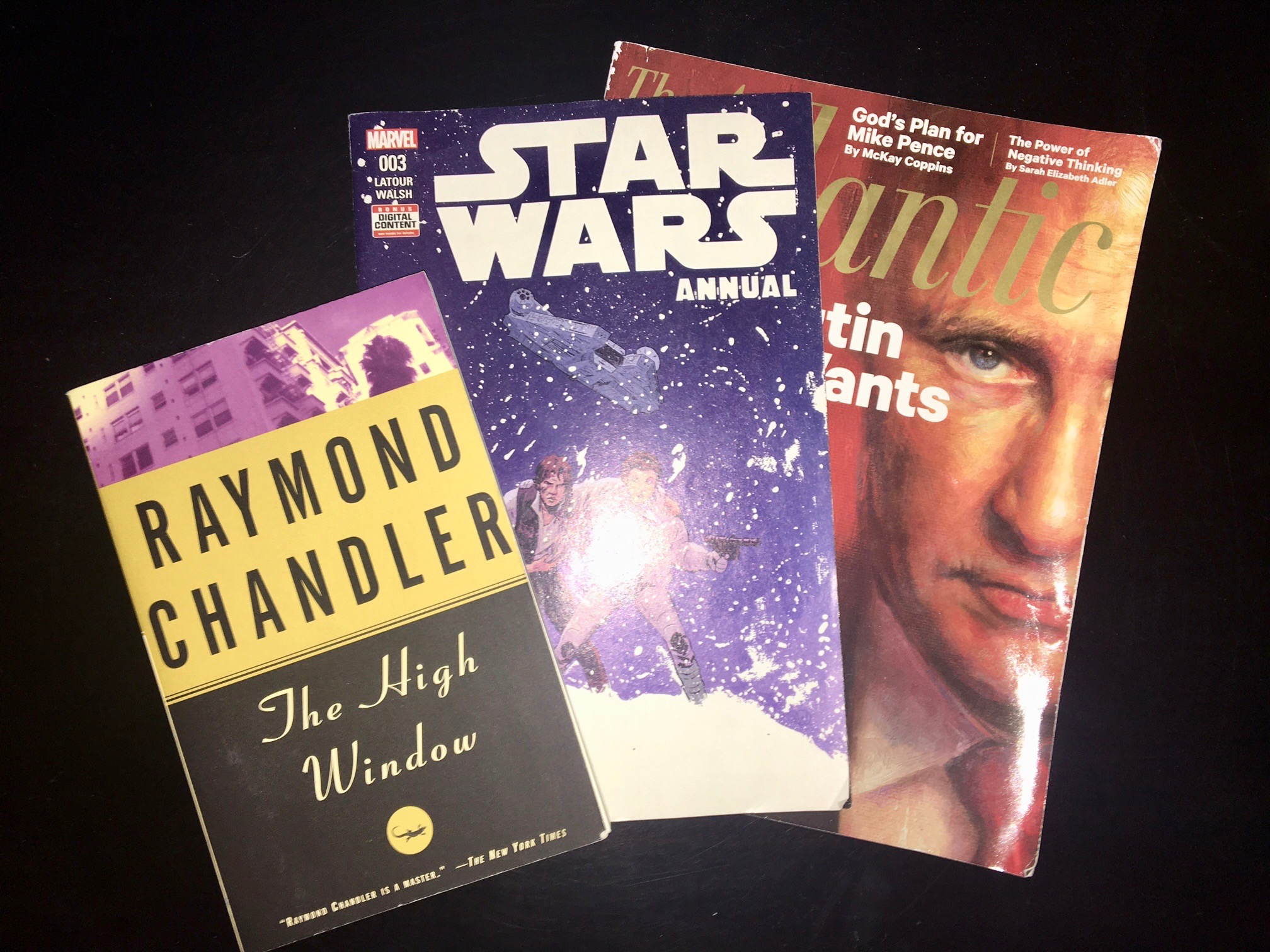 What I'm Reading - The High Window, Star Wars Annual, The Atlantic