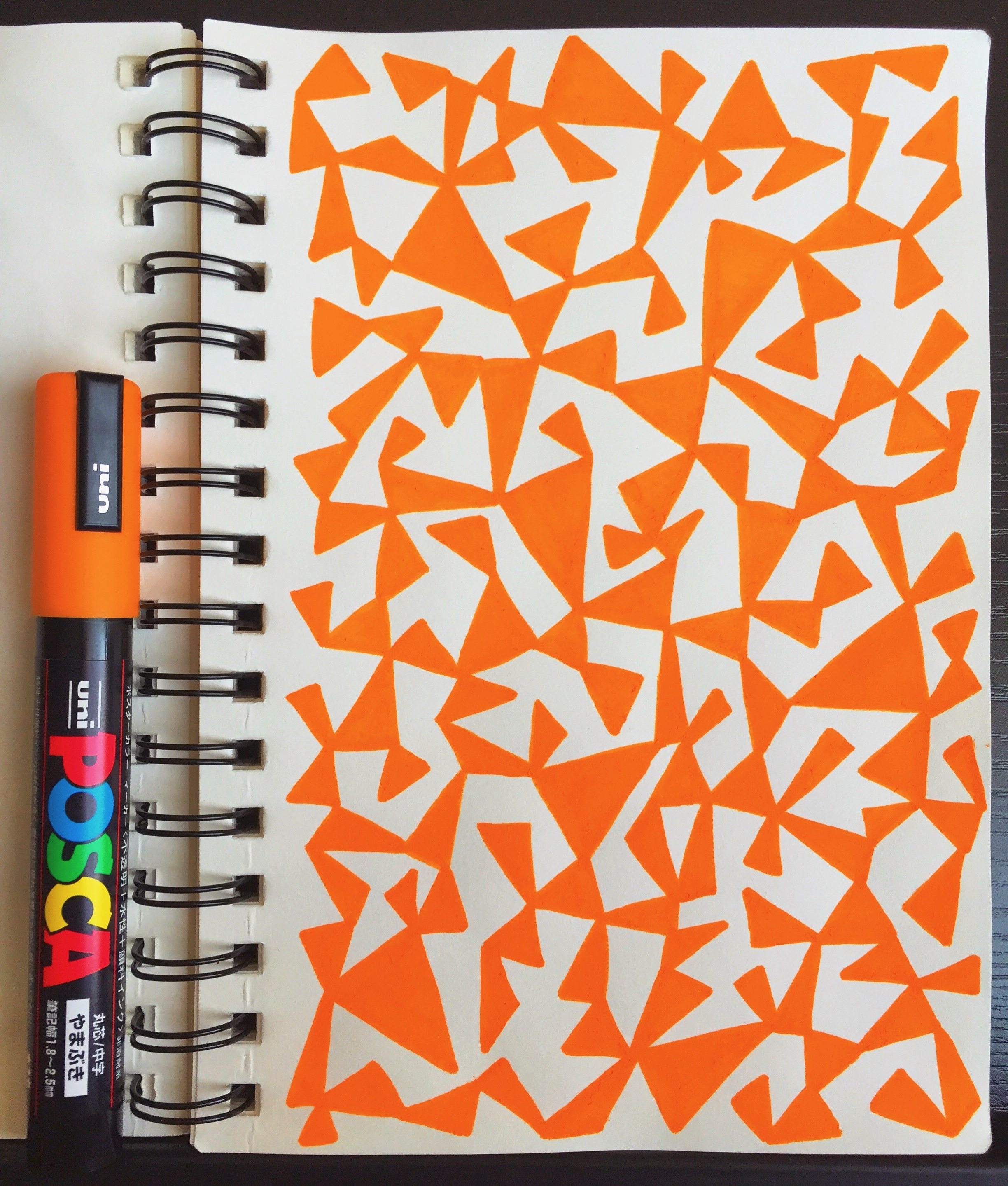 Sally Cummings Designs - Conjoined Triangles sketchbook page