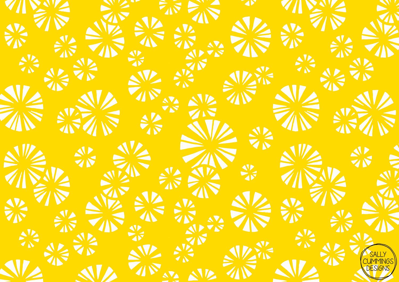 Yellow starbursts pattern