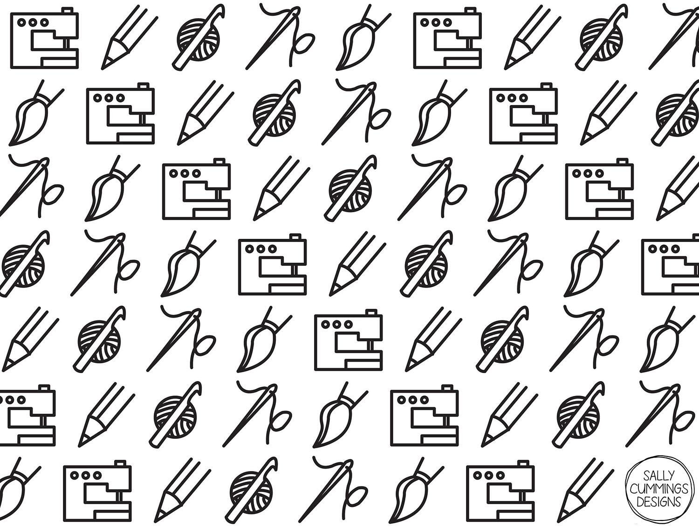 Crafty icons pattern