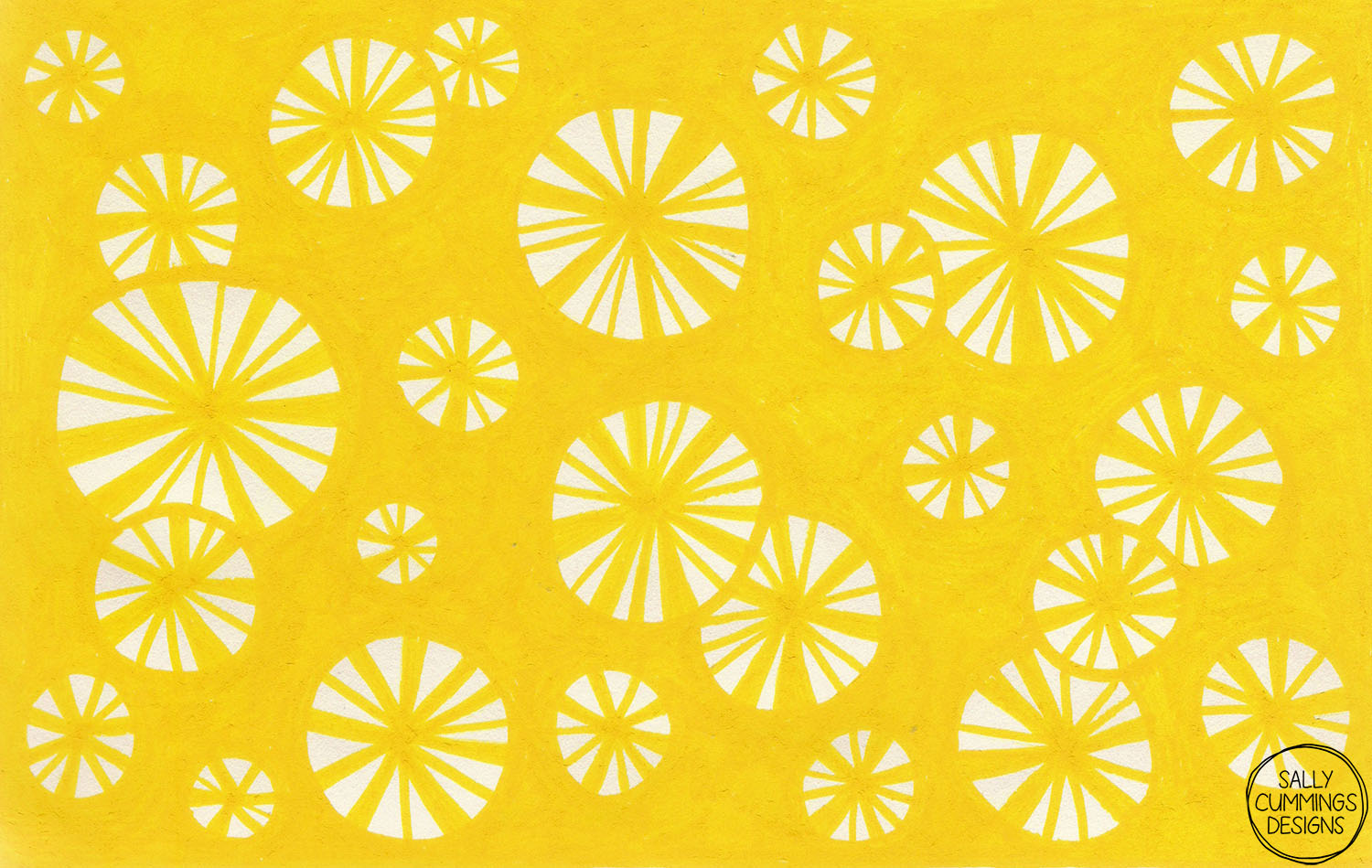 Yellow starbursts sketchbook drawing