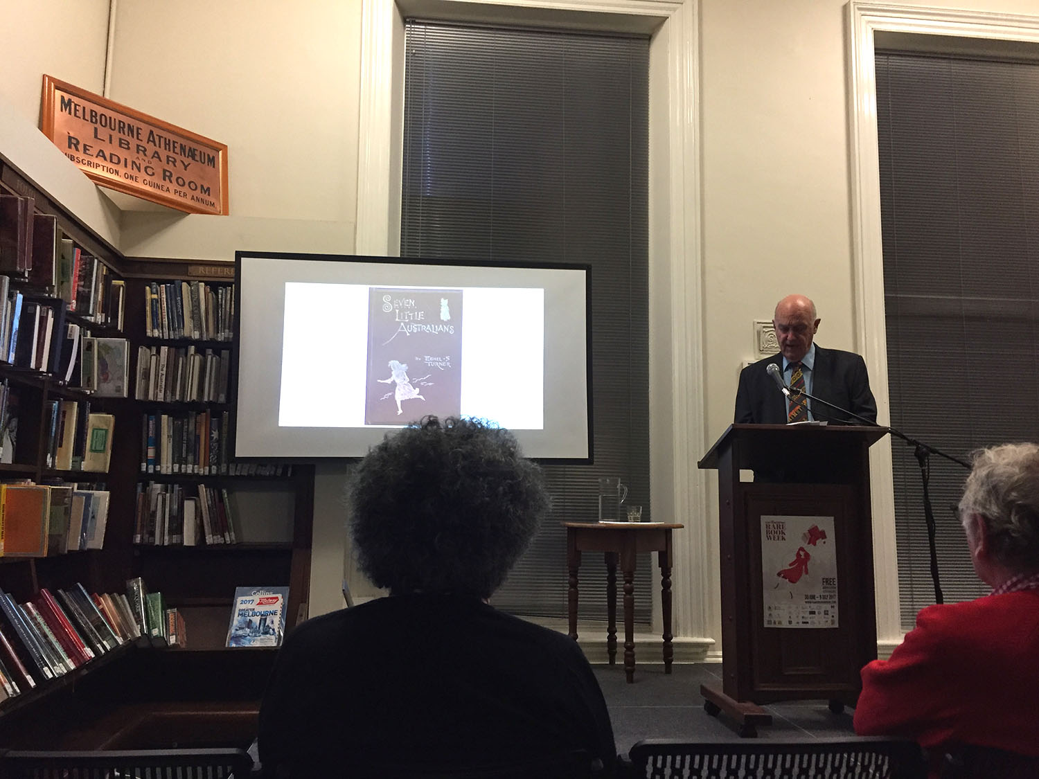 A talk at the Melbourne Athenaeum Library for Rare Book Week 2017