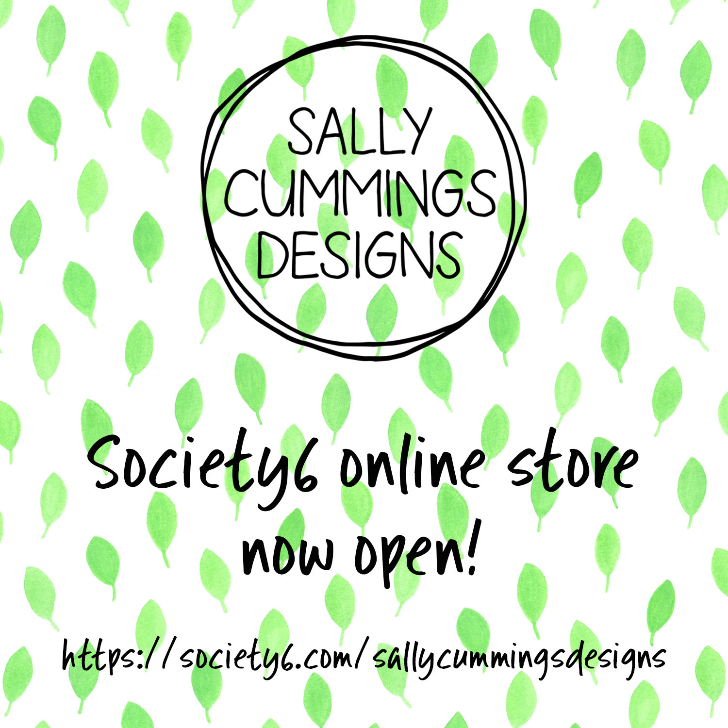 Society6 online store launch graphic