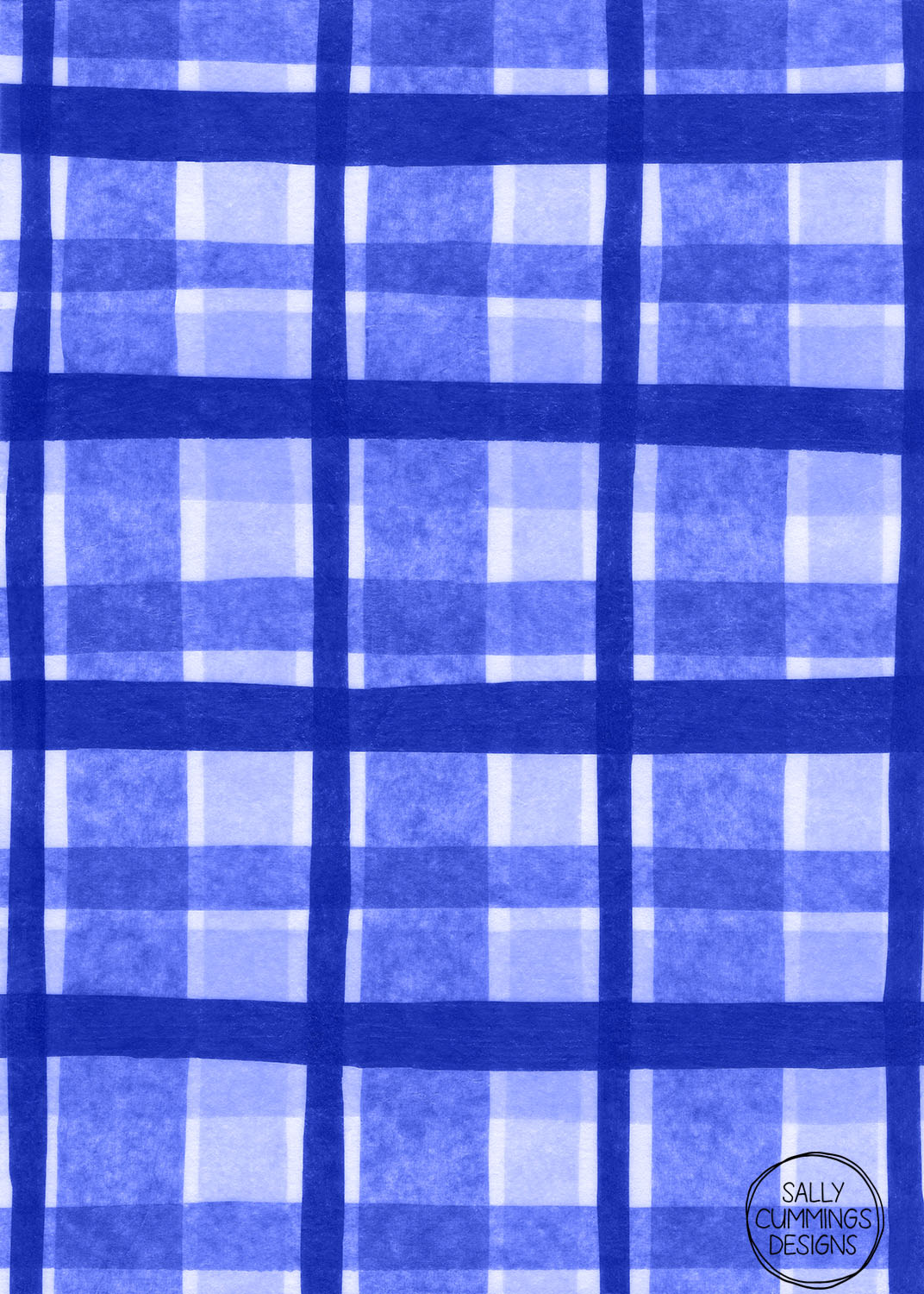 Sally Cummings Designs - Tissue Paper Plaid (Blue)