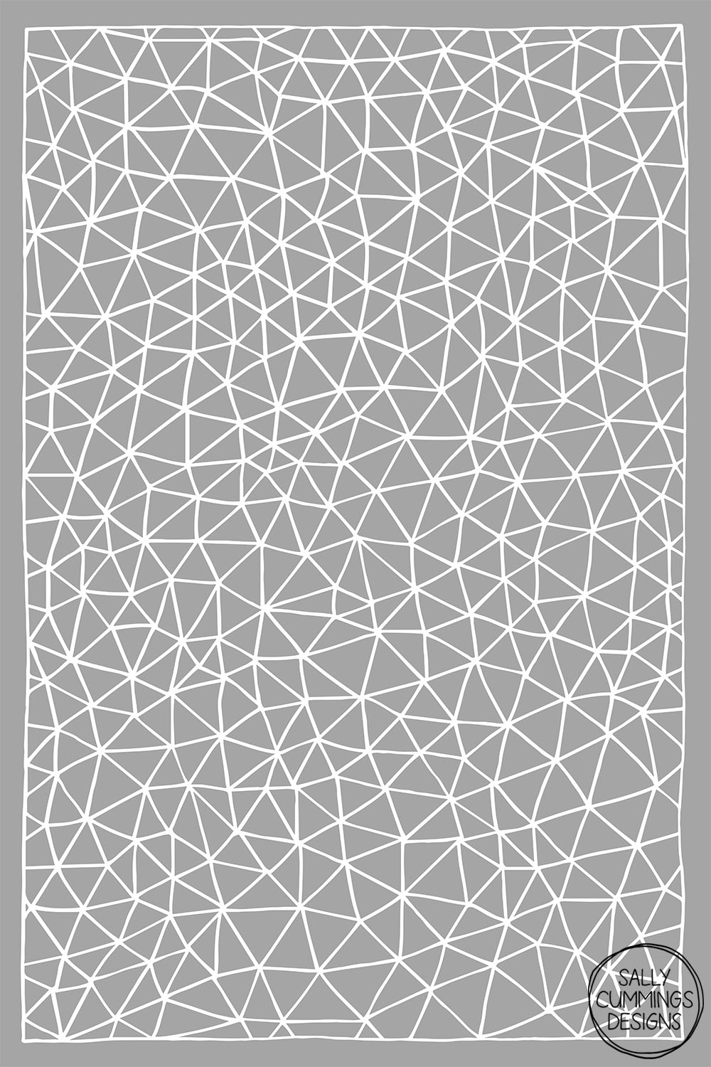 Sally Cummings Designs - Connectivity design (white on grey)