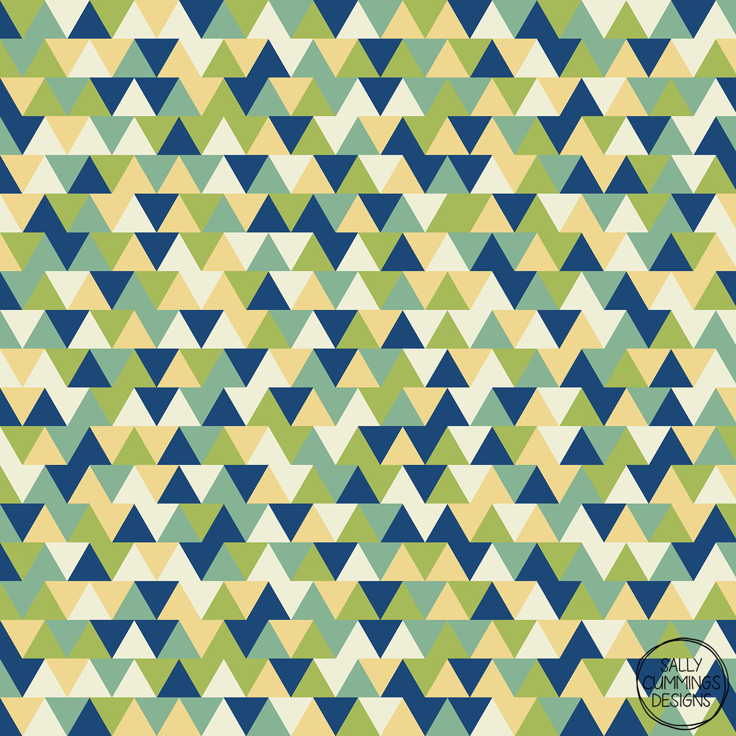 Sally Cummings Designs - Rockpool Triangles Pattern