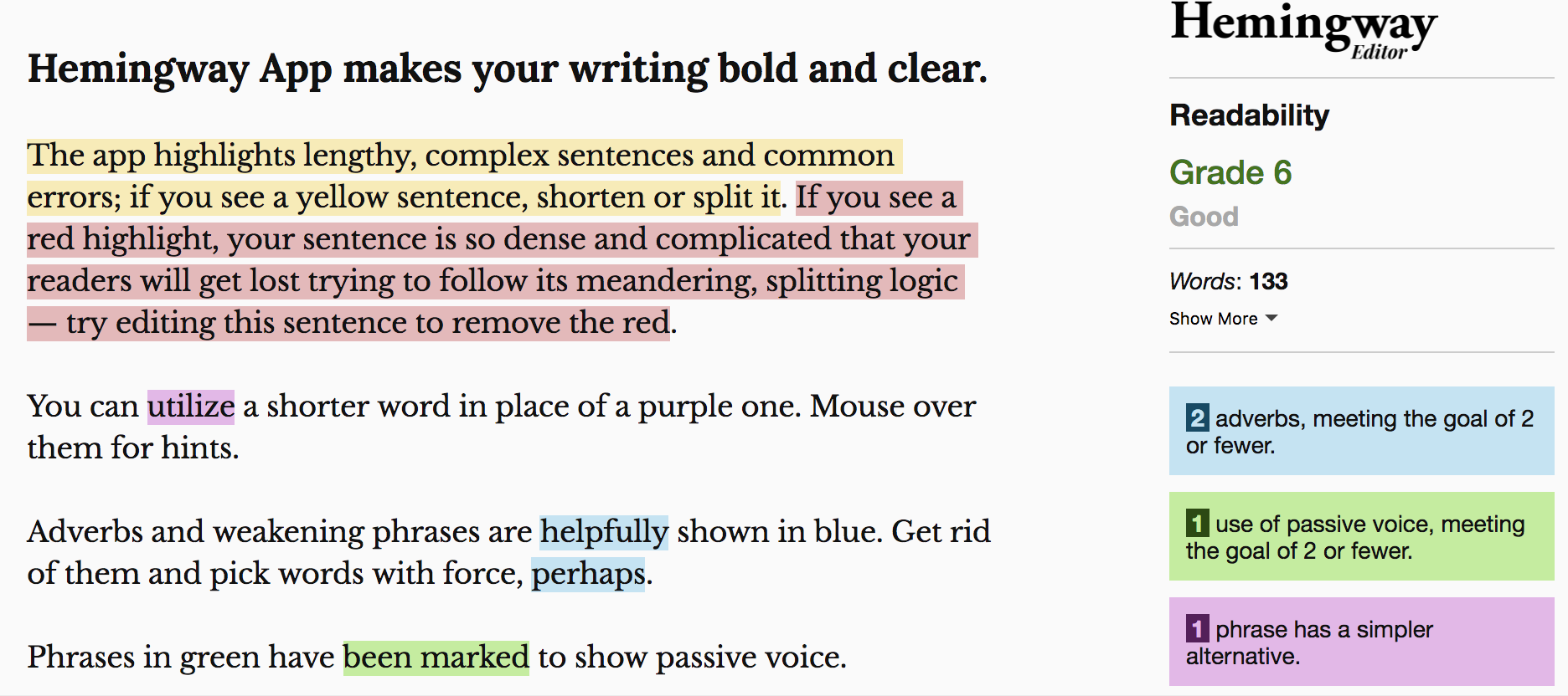Hemingway – a great web-based tool to help improve your writing