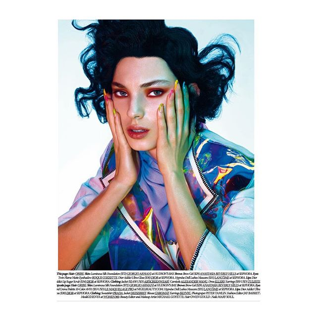 """Pop Art"" out now for @dresstokillmagazine with 📸 @petertamlin 💇♀️ @owengould @thewallgroup 💅🏻 @nailsbymarysoul 💄 @michaelgoyette and style by moi @j.m.barrett"