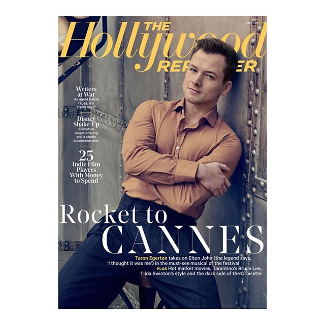 Always fun with the exuberant and vivacious @taron.egerton  REPOST @joemillshair: @taron.egerton cover #shoot on the @hollywoodreporter shot by @ruvenafanador #mensgrooming by me for @joeandcosoho using @baxterofca #styling by @stylegazer1 and @j.m.barrett ahead of the #premiere of @rocketmanmovie in Cannes #takesmorethan12weeks