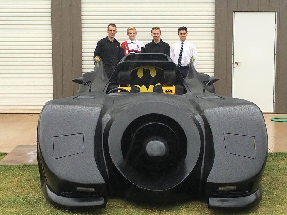 Four Batmobile builders