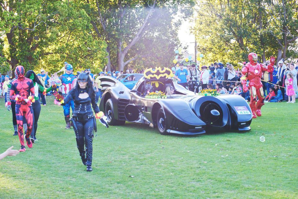 Batmobile debut at the Toowoomba Carnival of flowers 2016