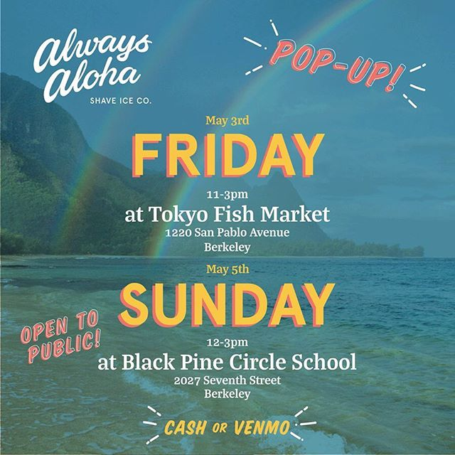SWIPE👉🏼 FRIDAY 5/3 Tokyo Fish Market from 11-3pm & SUNDAY 5/5 Black Pine Circle School in Berkeley from 12-3pm! 🌺 CALLING ALL KEIKI! 🌺 @curiousjane_fun will be popping up at Black Pine Circle School this Sunday 5/5! It is a FREE event open to everyone of ALL AGES! There will be a ton of fun & innovative DIY crafts, an inflatable photo booth & more! SWIPE👉🏼 for details! 🤗🚀✨📐🧶🧲⚡️✏️🔖✂️📎🖍⚙️🌈🎨🥽🧣🧩💡🔨 TAG ANYONE WHO MIGHT BE INTERESTED!