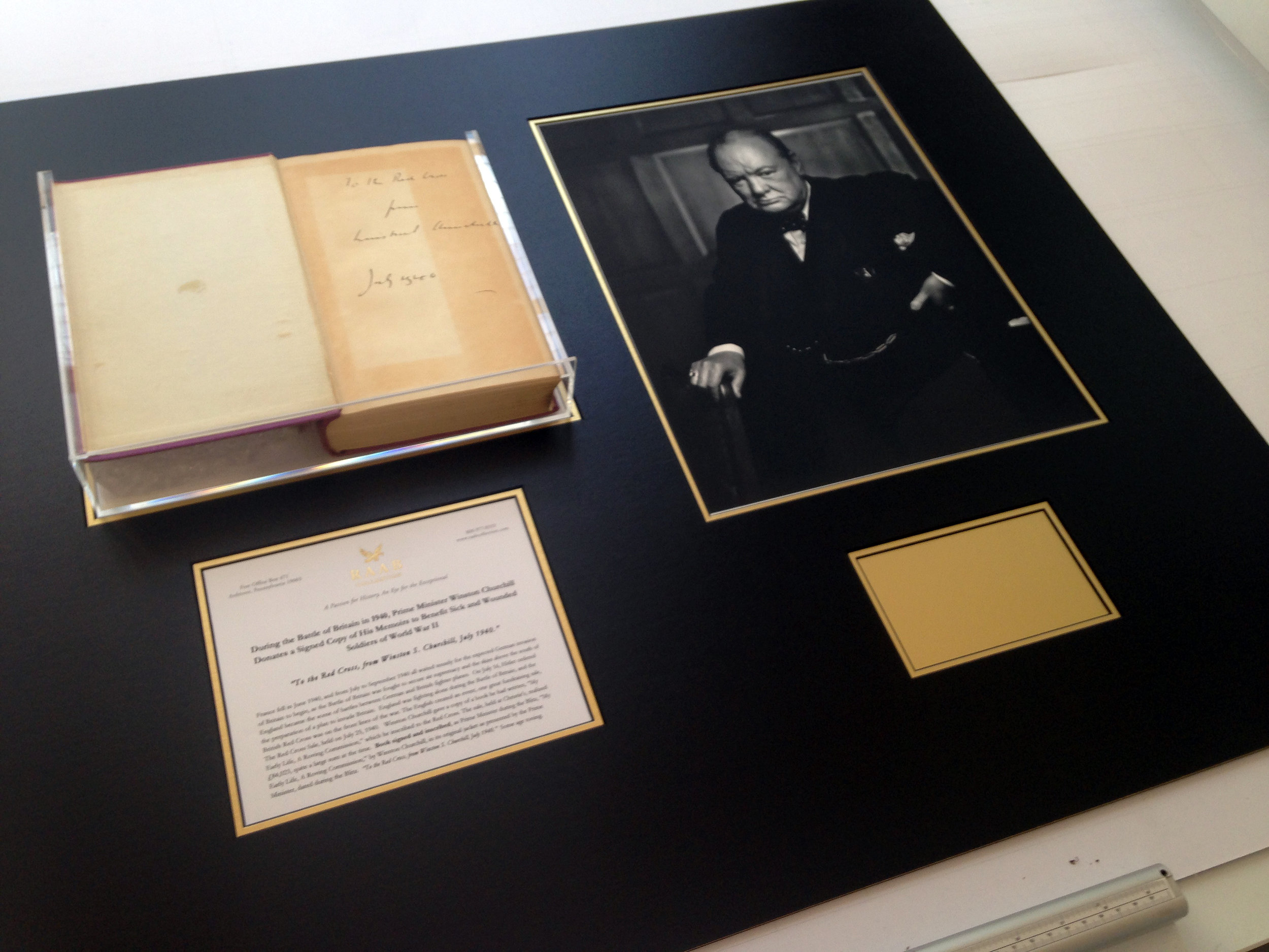 Signed autobiography of Winston Churchill.