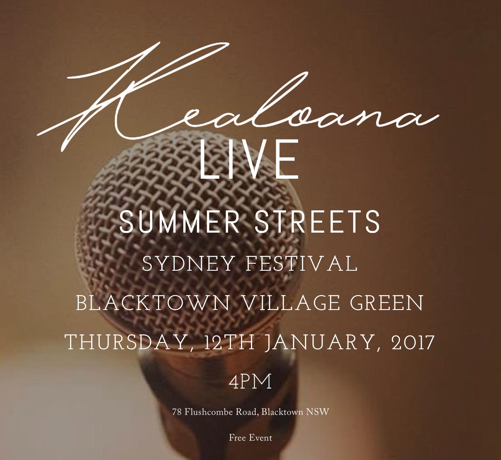 Kealoana @ Summer Street Festival 2017
