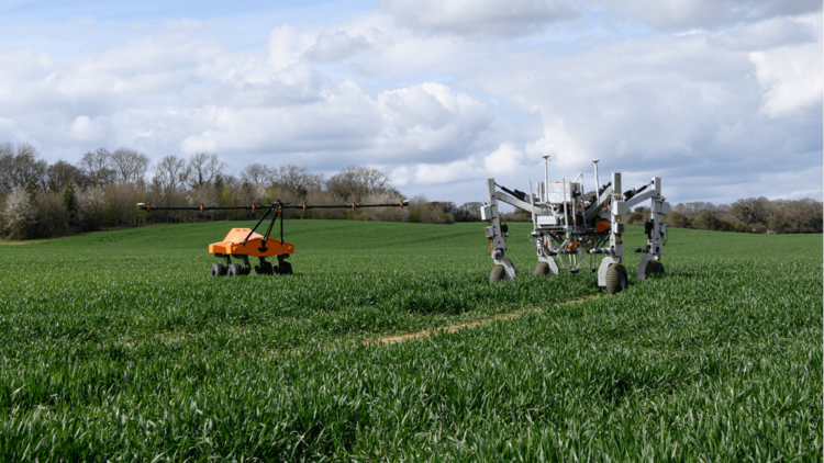 SRC showed a pair of robots, 'Tom' and 'Dick', working in concert with its artificial intelligence Advice Engine 'Wilma' to identify and kill individual weeds with electricity.