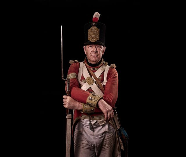 Sergeant, 44th East Essex Regiment of Foot, Britain Unseen Waterloo: The Conflict Revisited, is a series of imaginary portraits by photographer Sam Faulkner @faulknerphotog exploring how we remember the fallen from a time before photography. Everyone of these images was made on the actual battlefield of Waterloo.  Use code INSTA50 for a 50% discount on the Unseen Waterloo book. Use link in the profile.  #Waterloo #battleofwaterloo #reenactment #livinghistory #napoleonic #Dukeofwellington #Napoleon #eastessex #44th #sergeant