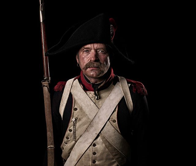 Fusilier, 8e Régiment d'Infanterie de Ligne, France Unseen Waterloo: The Conflict Revisited, is a series of imaginary portraits by photographer Sam Faulkner @faulknerphotog exploring how we remember the fallen from a time before photography. Everyone of these images was made on the actual battlefield of Waterloo.  Use code INSTA50 for a 50% discount on the Unseen Waterloo book. Use link in the profile.  #Waterloo #battleofwaterloo #reenactment #livinghistory #napoleonic #Dukeofwellington #Napoleon #fusilier