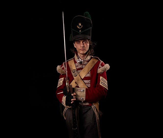 Corporal, 3rd East Kent Regiment of Foot (The Buffs), Britain Unseen Waterloo: The Conflict Revisited, is a series of imaginary portraits by photographer Sam Faulkner @faulknerphotog exploring how we remember the fallen from a time before photography.  Everyone of these images was made on the actual battlefield of Waterloo. Use code INSTA50 for a 50% discount on the Unseen Waterloo book. Use link in the profile.  #Waterloo #battleofwaterloo #reenactment #livinghistory #napoleonic #Dukeofwellington #Napoleon #eastkent #buffs