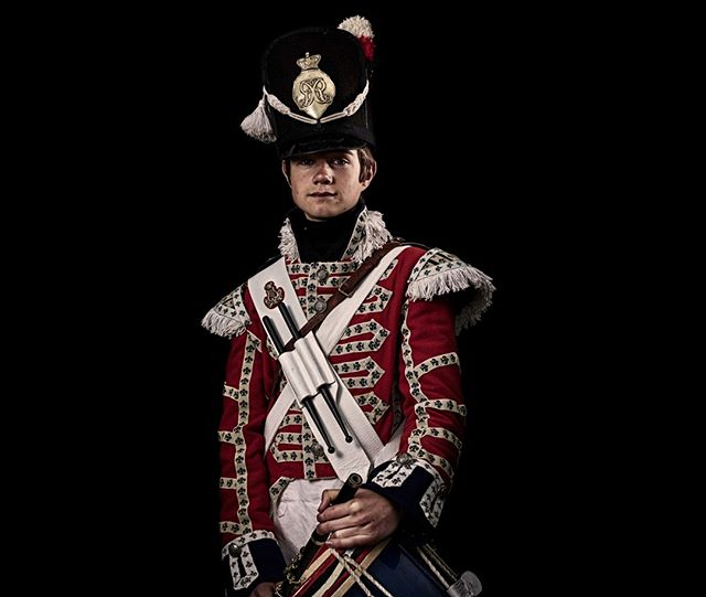 Drummer, 1st Regiment of Foot Guards, Britain  Unseen Waterloo: The Conflict Revisited, is a series of imaginary portraits by photographer Sam Faulkner @faulknerphotog exploring how we remember the fallen from a time before photography.  Every one of these images was made on the actual battlefield of Waterloo. Use code INSTA50 for a 50% discount on the Unseen Waterloo book. Use link in the profile. #Waterloo #battleofwaterloo #reenactment #livinghistory #napoleonic #Dukeofwellington #Napoleon #drummer #1stregiment #guardsregiment