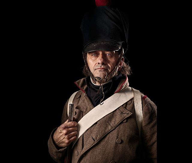 Grenadier, 17e Régiment d'Infanterie de Ligne, France  Unseen Waterloo: The Conflict Revisited, is a series of imaginary portraits by photographer Sam Faulkner @faulknerphotog exploring how we remember the fallen from a time before photography.  Every one of these images was made on the actual battlefield of Waterloo.  Use code INSTA50 for a 50% discount on the Unseen Waterloo book. Use link in the profile.  #Waterloo #battleofwaterloo #reenactment #livinghistory #napoleonic #Dukeofwellington #Napoleon #grenadier #17e #infantry