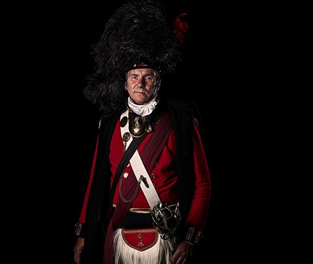 Major, 42nd Royal Highland Regiment of Foot, (The Black Watch), Britain  Unseen Waterloo: The Conflict Revisited, is a series of imaginary portraits by photographer Sam Faulkner @faulknerphotog exploring how we remember the fallen from a time before photography.  Every one of these images was made on the actual battlefield of Waterloo.  Use code INSTA50 for a 50% discount on the Unseen Waterloo book. Use link in the profile.  #Waterloo #battleofwaterloo #reenactment #livinghistory #napoleonic #Dukeofwellington #Napoleon