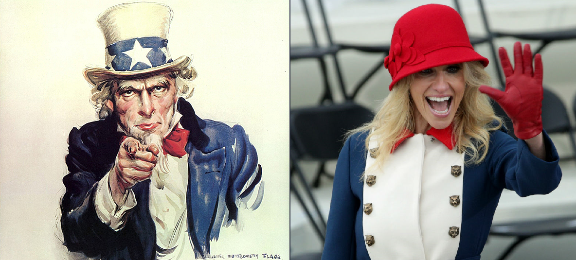 Kellyanne Conway, seen left... or... right? You decide.