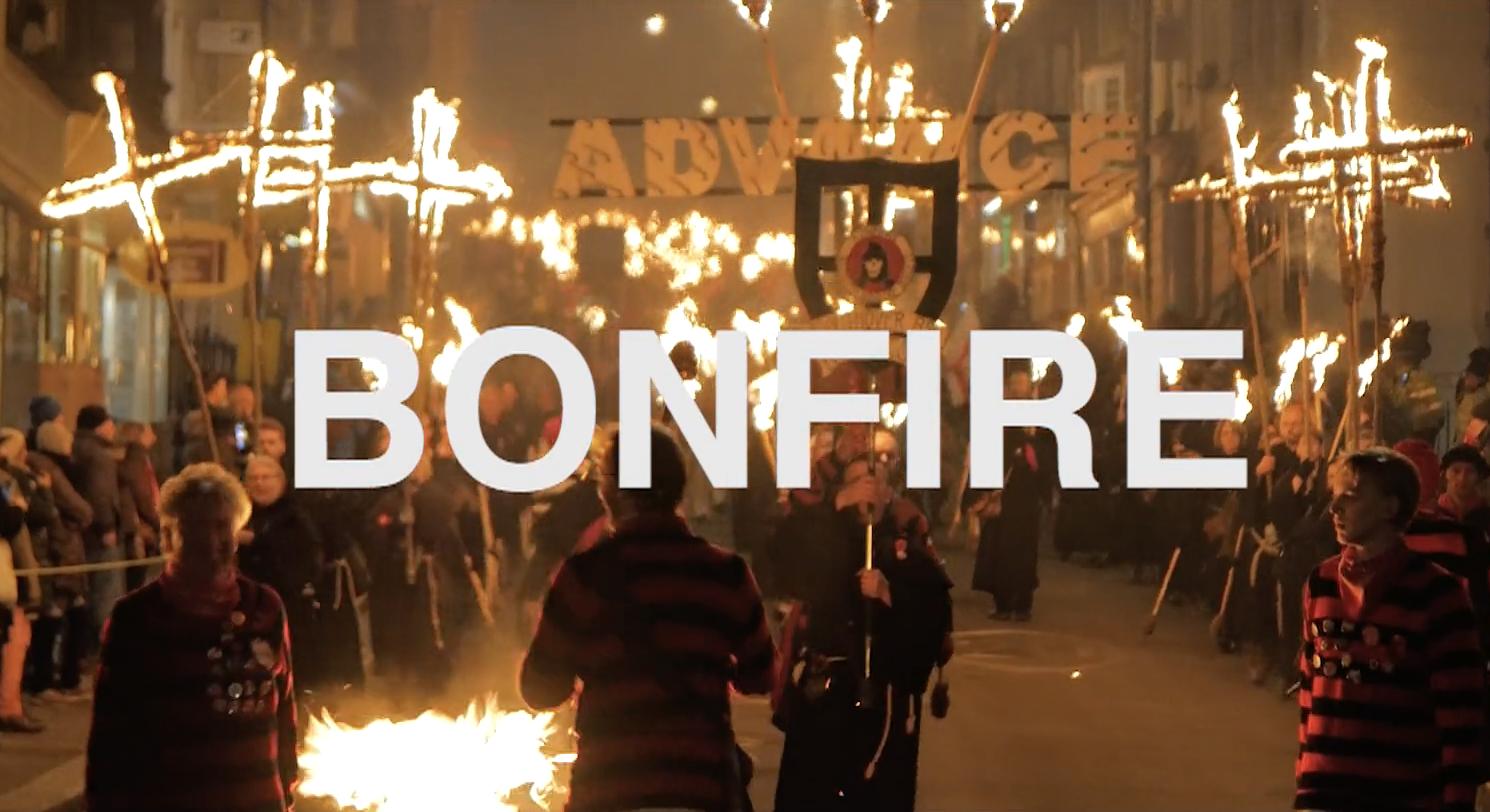 Film makers Bristol bonfire