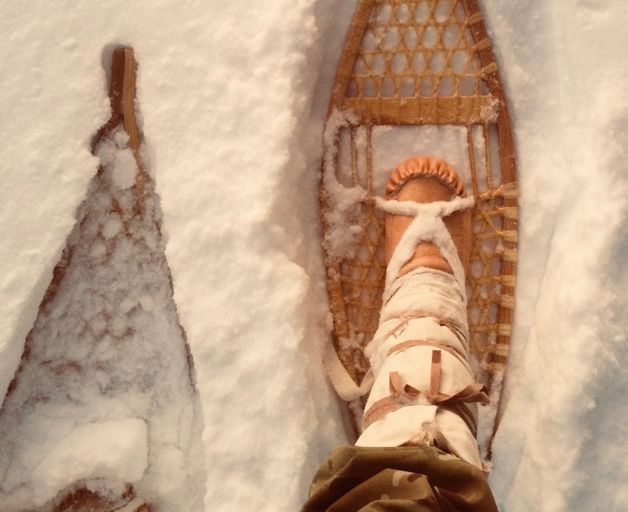Snowshoe and mukluk on the move.jpg